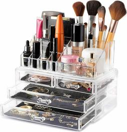 acrylic cosmetic organizer makeup case holder drawer