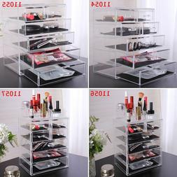Acrylic Jewelry Makeup Cosmetic Organizer Case Display Holde