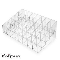 Acrylic Lipstick Organizer Stand - 40 Slot Cosmetic Display