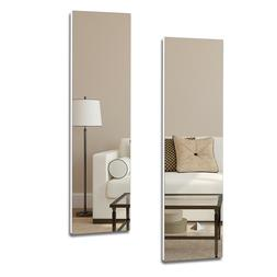 Full Length Wall Mount Frameless Mirror for Make up and Wall