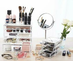 Hot Acrylic Cosmetic Organizer Makeup Case Drawers Durable J
