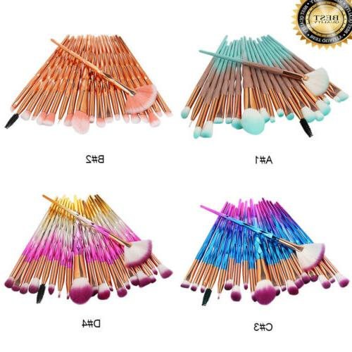 20pcs eyeshadow eye shadow foundation blending brush