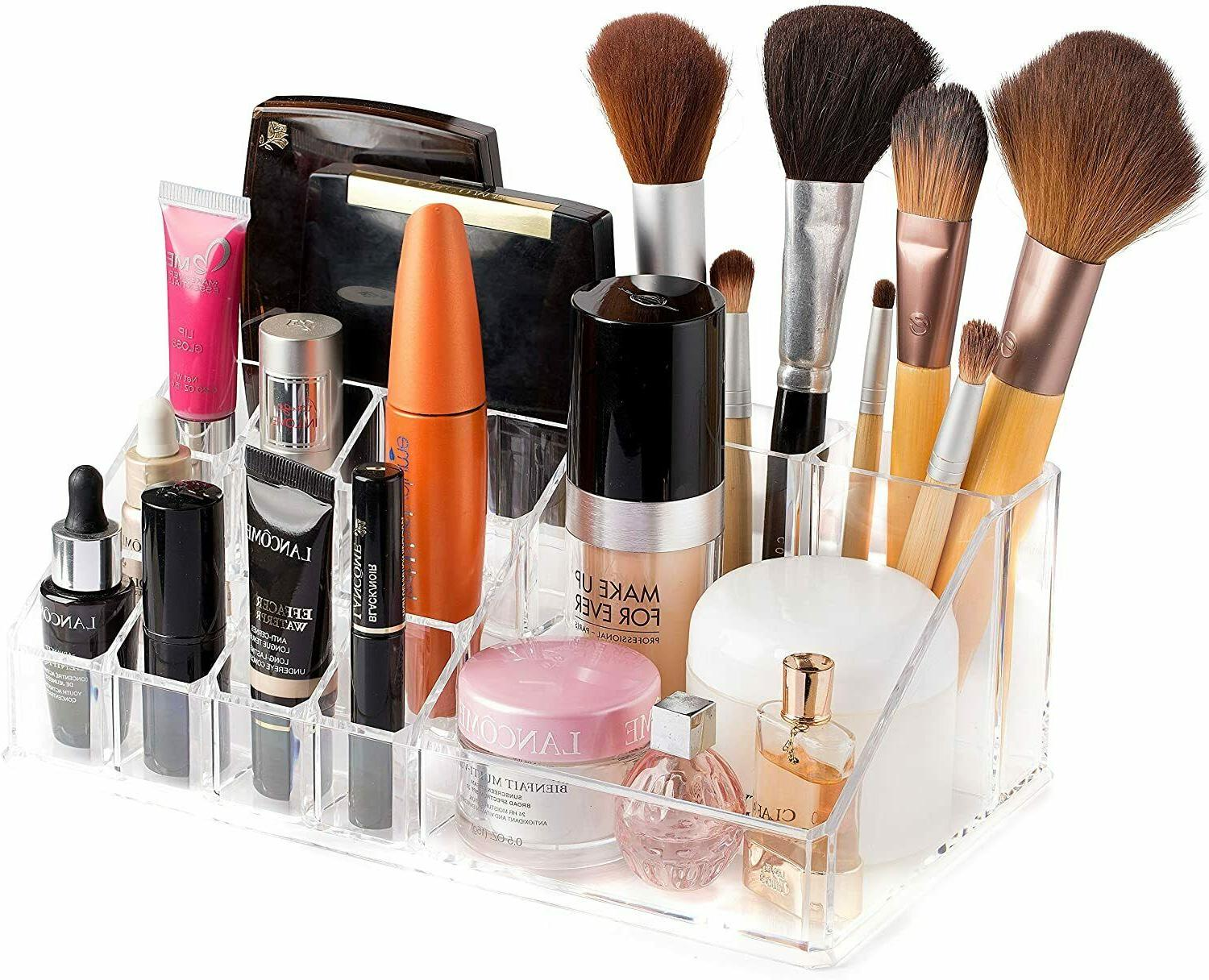 Acrylic Cosmetic Case Holder Storage Display
