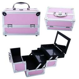 Large Pro Aluminum Makeup Train Case Jewelry Box Cosmetic Or