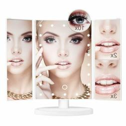 Makeup Vanity Cosmetic Mirror With 22 LED Light Touch Screen