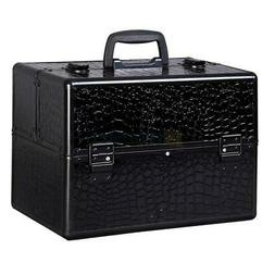 "New 14"" Pro Aluminum Makeup Train Case Jewelry Box Cosmetic"