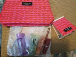 New Clinique Gift Set Marimekko Cosmetic Bag w Mirror and 5p