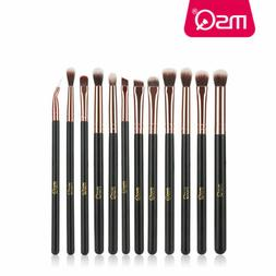 US 12Pcs Eye Makeup Brush Set Blend Shadow Angled Eyeliner S